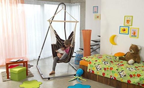 AMAZONAS Formschönes Hängesesselgestell aus Stahl Luna RockStone höhenverstellbar für Wohnzimmer und Garten 120 x 200-240 x 145 cm bis 120 kg - 5