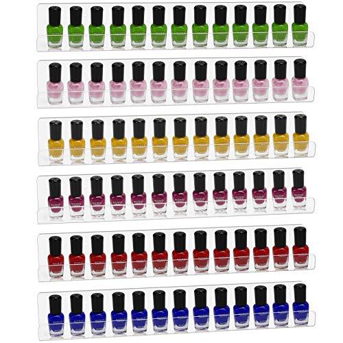 Dawoo Transparente Mehrzweck-Acrylregale von - Kann als Nagellack-Präsentationsständer, Aufbewahrungsregal für ätherische Öle, Bilderregal oder Küchengewürzregal verwendet werden(6 Packungen)