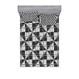 """MEASUREMENTS - 1 calking size sheet 72"""" wide X 84"""" long & 2 pillow shams 36"""" wide X 20"""" long. MADE FROM - Super soft 100% brushed microfiber fabric. Sheet and sham set with modern prints. FEATURES - All-round elastic pocket, fits mattresses up to 16""""..."""