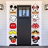 Mickey Minnie Porch Sign Theme Hanging Door Decoration Party Products for Adults and Children Birthday Party Banner Slogan