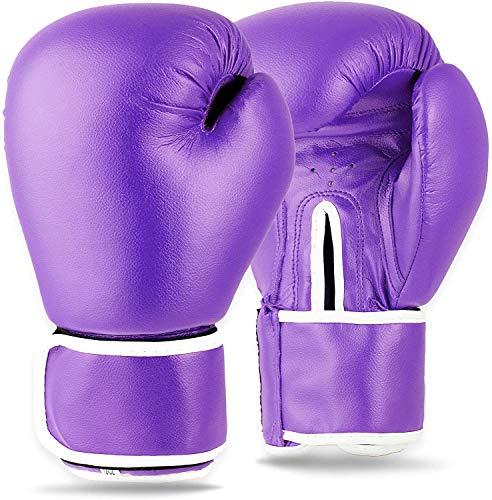 On The Run Boxhandschuhe - MMA Boxsack Training Mitts,Lila,8oz