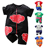 RELABTABY Newborn Baby Boys Girls Onesie Cosplay Anime Baby Clothes One Piece Lovely Short Sleeve Cartoon Romper Outfits