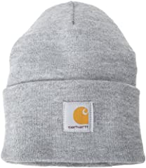 Carhartt label sewn on front 100% Acrylic Stretchable rib-knit fabric Hand wash only Made in the USA of imported parts