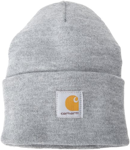 Carhartt Men's Acrylic Watch Hat A18, Heather Grey, One Size