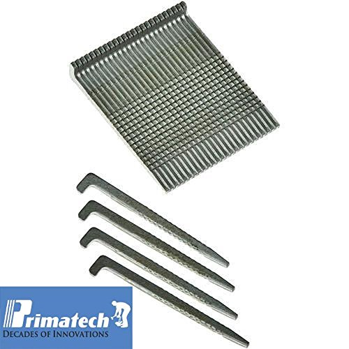 Primatech 1-1/2' L Hardwood Flooring Cleats - Floor Nailer Nails - 16 Ga. Steel - 'L' Shaped - Box of 5000 Cleats