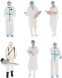 Generic 2 stycken 1:64 minidoktorer People Dioramamodell för matchande låda barn grupp