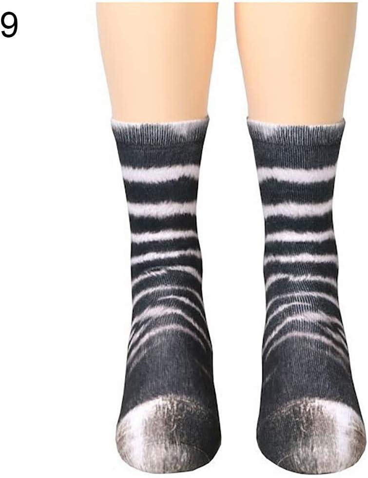 Unisex 3D Erwachsene Kinder Weiche Elastische Baumwolle Socken Kinder Katze puran Simulation Tier Pfote Huf