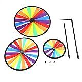 Fdit Multicolor Arcobaleno Triple Ruota Mulino a Vento girandola girotondo Bambini Giocatt...
