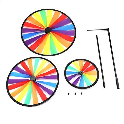 Mootea Multicolor Regenbogen Dreirad windmühle windrad Whirligig Kinder Spielzeug Kunst Garten Party Outdoor Decor