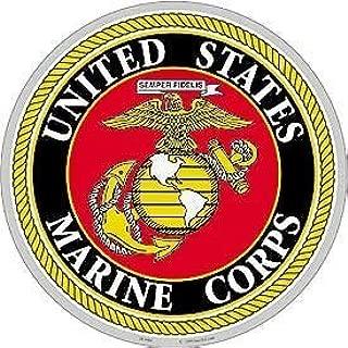 USMC Logo Aluminum Sign Round 12