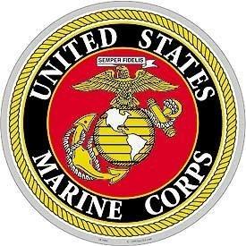 USMC Logo Aluminum Sign Round 12'