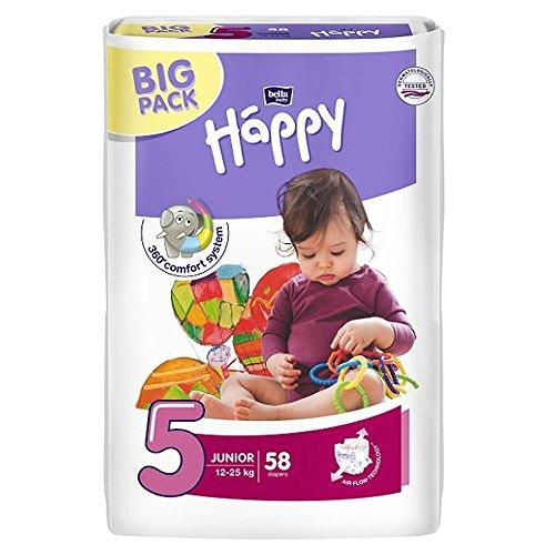 Bella Baby Happy Windeln, Big Pack, Größe 5 (Junior), 12-25 kg, (1 x 116 Windeln)