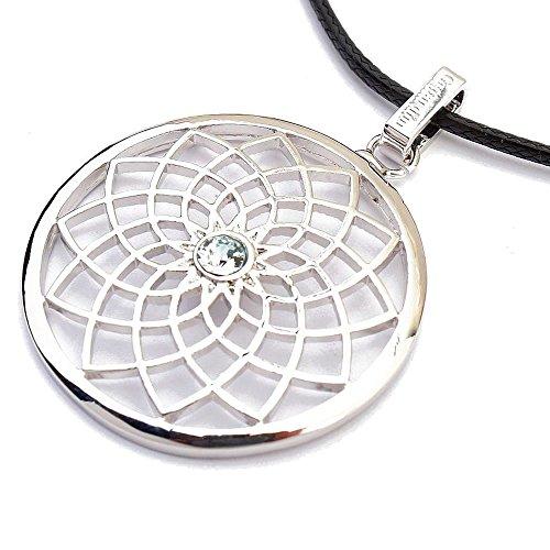 Gepardini Traumfänger Halskette mit SWAROVSKI® Kristalle in Silber (ohne Feder)