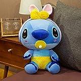 hhjxptst Soft Toys - Stitch Angel Verwandelte Sich In Eine Bee Hug Schnullerpuppe 40CM Gelber Schnuller