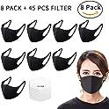 8-Pack Seilliet Fashion Protective Reusable Washable Breathable Face Mask