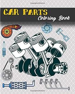کتاب رنگ آمیزی قطعات خودرو: قطعات مکانیکی 3d - کتاب رنگ آمیزی اتومبیل برای بزرگسالان