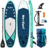 ISSYAUTO Stand Up Paddle Board Inflatable SUP 10'6'×31'×6' Ultra-Light Inflatable Paddle Boards, Non-Slip Deck Pad, with Backpack, Leash, Paddle and Hand Pump