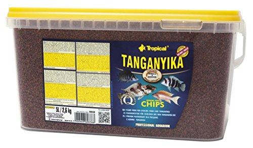 Tropical Tanganyika Chips - Zutatenreiche, sinkende Spezialfutter-Chips für große Tanganjikasee-Cichliden, 1er Pack (1 x 5 l)