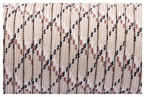 DYKJK Multifunción 550 Cordón de paracaídas Cuerda de cordón Cuerda de Cordones 7 Strand Paracord para Caminar Camping Cuerda Multiusos para Manualidades (Color : 5 Desert Camo, Length(m) : 25feet)