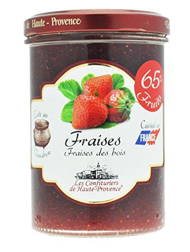Vasetto confettura di fragole e fragoline di bosco. Agronovae. Francia.