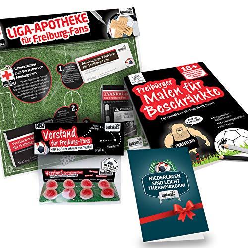 Freiburg Sportclub Coffee to go-Becher ist jetzt das GROßE Saison Notfall Set für SCF-Fans by Ligakakao.de | Kaffee Becher Tasse Logo schwarz-weiß