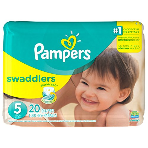 Pampers Swaddlers Disposable Diapers Size 5, 20 Count, JUMBO