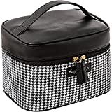 Houndstooth Cosmetic Bag Portable Toilet Bag Portable Simple Large-Capacity Outing Storage Bag