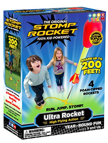 Product Image of the Stomp Rocket The Original Ultra Rocket Launcher, 4 Rockets and Toy Air Rocket...