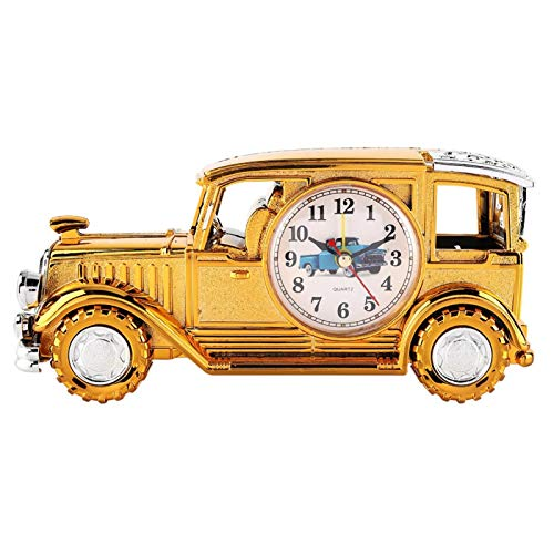 Jopwkuin Multifunktionswecker, Oldtimer Wecker Digitaler Bleistift Stifthalter Wecker Schreibtischwecker für Arbeitszimmer Dekoration für Geschenke für Spielzeug(Tyrann Golden)