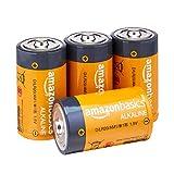 AmazonBasics D Cell Everyday Alkaline Batteries -Pack of 4