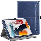Ztotops Funda iPad 9/8/7 Generacion, Carcasa de Cuero con Bolsillo y Soporte, Función de Auto-Sueño/Estela, Múltiples ángulos, Cover para iPad 10,2 2021/2020/2019 - Azul