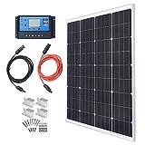 TP-solar Solar Panel Kit 100 Watt 12 Volt Monocrystalline Off Grid System for Homes...