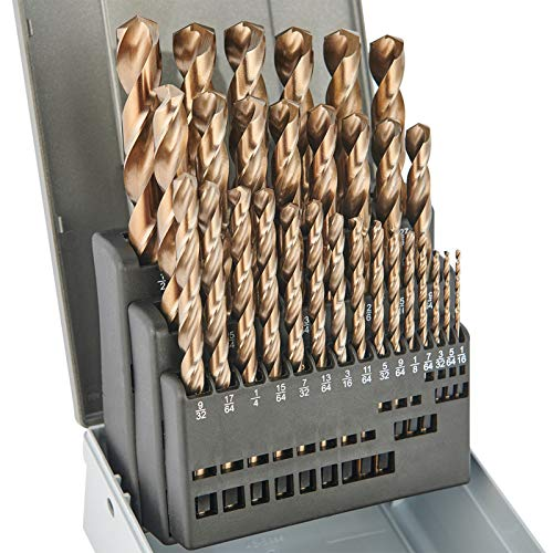 Drill Bit Set 29pcs,M35 Cobalt Drill Bit Set,High Speed...