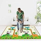 aolongwl Cuidado del bebé alfombra plegable alfombra infantil plegable educación temprana gatear juego pad juguete 180 cm x 120 cm x 0.5 cm negro