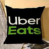 Uber Eats抱 き枕カバー クッショ45×45cm 枕カバー おしゃれ のびのび枕カバー タオル地 吸湿速乾防ニ