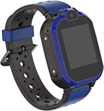 UFonding Kids Smart Phone Watch Support 4G with Bluetooth GPS Video Call HD Touch Screen Waterproof for Girls Boys Android iOS (Blue)