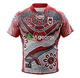 LQLD Jersey de Rugby 2021st.George Drago pour Hommes, Polyester pour Hommes Séchage Rapide Séchoir à Manches Courtes Rugby T-Shirt,3XL
