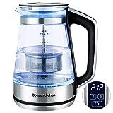 Electric Kettle, Bonsenkitchen Glass Tea Kettle, 1500W Fast...
