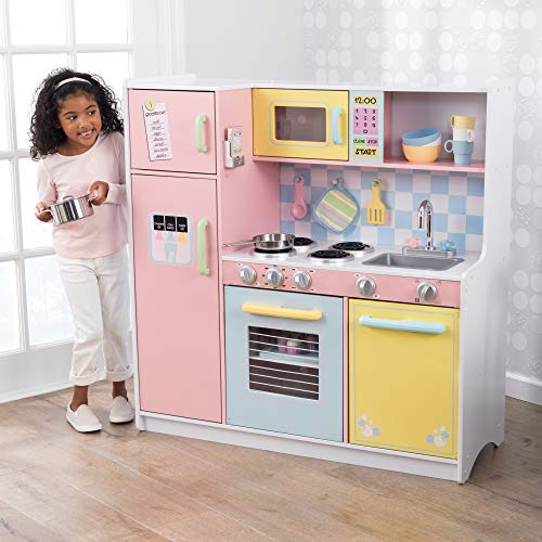 KidKraft Large Kitchen is the best wooden play kitchen for taller kids