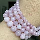 Perlas de Piedra púrpuras Naturales Redondas Perlas espaciadoras Sueltas para la fabricación de joyas-6/8 / 10mm (Item Diameter : 8mm About 46pcs)