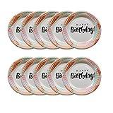 Hemoton 10 piezas 7 pulgadas bandeja de papel desechable cartón redondo pastel círculo base postre fruta plato vajilla placa de cumpleaños para fiesta de cumpleaños