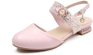 BalaMasa Womens ASL06351 Pu Block Heels