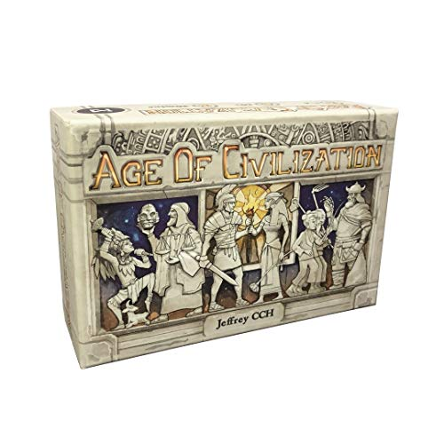 ICE MAKES Age of Civilization Strategy Card Game, Board Games, Pocket, Travel and Family Friendly 1-4 Players Board Game Adventure and Brain Teaser
