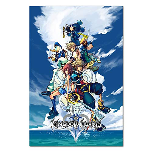 Printing Pira Kingdom Hearts II Poster - PS2 Exclusive - Box Art (11x17)