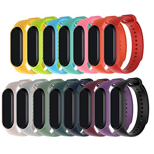 MAKACTUA Kompatible für Xiaomi Mi Band 5 Damen Herren, Silikon Ersatz Fitness Armband und Uhrenarmband Sportarmband und Fitnessband Wristband Armbänder für Xiaomi Mi Band 5