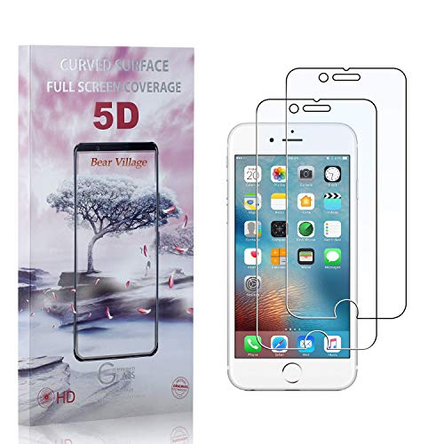 Bear Village® Verre Trempé pour iPhone 6s Plus/iPhone 7 Plus/iPhone 8 Plus, Ultra Résistant Dureté 9H, Anti Rayures Protection en Verre Trempé Écran pour iPhone 6 Plus/iPhone 6s Plus, 2 Pièces