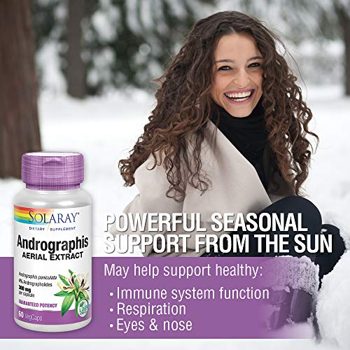 Solaray Andrographis Aerial Extract 300 mg   Healthy Immune System & Respiratory Tract Support   30 Serv   60 VegCaps