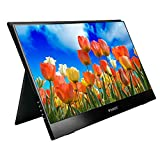 Portbale USB C Monitor for Laptop Wimaxi Touchscreen Monitor,15.6 Inch Ulta-Slim 1920x1080 16:9 Display Type-C/USB C Monitor Compatible with Laptop, Android Phone,Switch and Other Game Consoles
