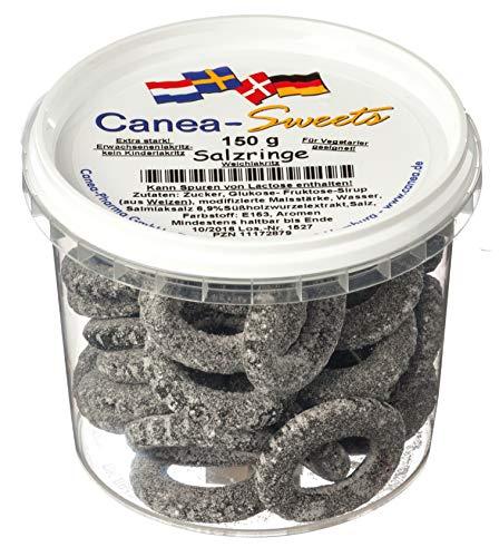 Canea-Sweets SALZRINGE Lakritz Bonbons Dose, 1er Pack (1 x 150 g)
