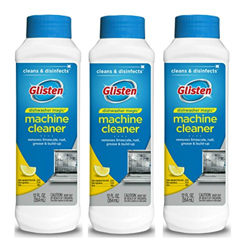 Glisten Dishwasher Cleaner & Disinfectant, Removes Limescale, Rust, Grease and Buildup, All-Natural, Fresh Lemon